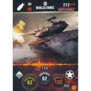 Nr. 212 - World of Tanks - T49 - Nation und Tank cards