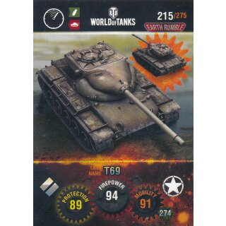 Nr. 215 - World of Tanks - T69 - Nation und Tank cards