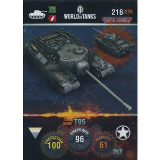 Nr. 216 - World of Tanks - T95 (Metal card) - Nation und Tank cards