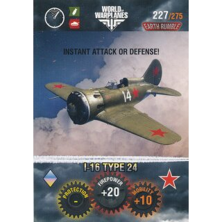 Nr. 227 - World of Tanks - I-16 Type 24 - Warplane cards