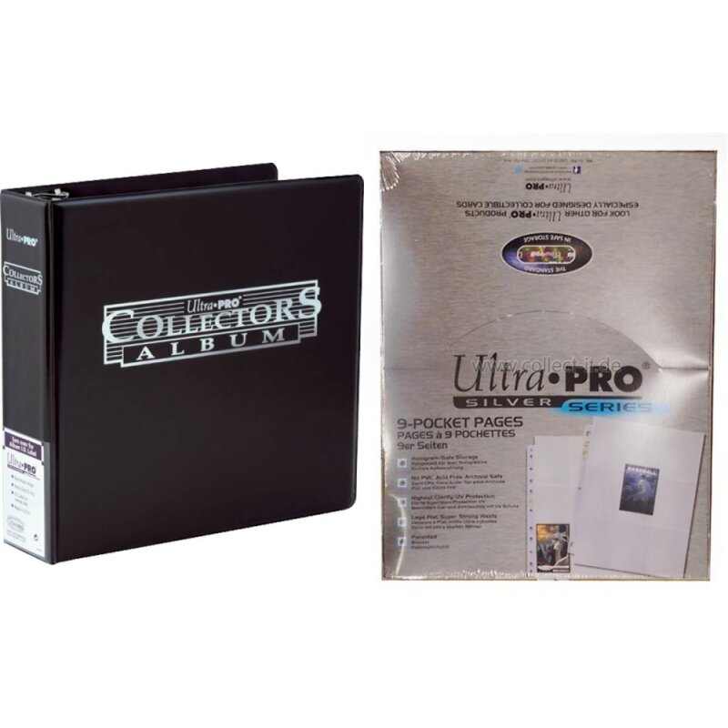 Black Collector Card Album + 50 Ultra Pro p-Pocket Ordnerseiten