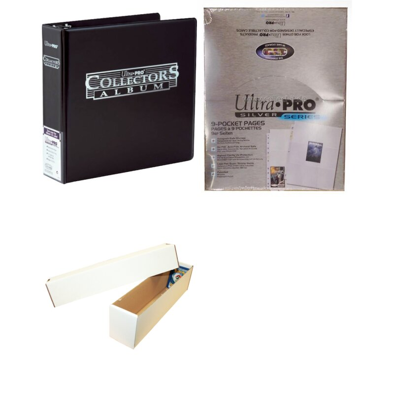 Collector Starter-Kit - Ring-Binder + 100 Ordnerseiten + Riesen Deck-Box für ca. 1000