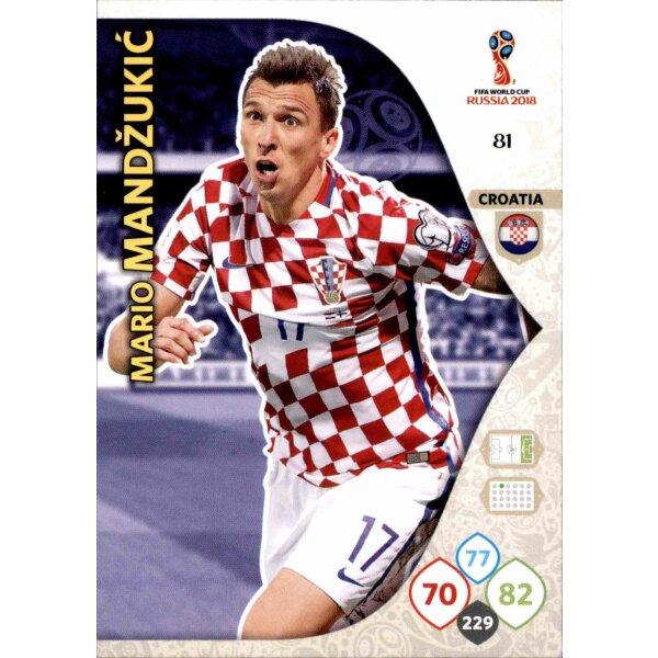 Mario Mandzukic Team Mate 81 Panini WM Russia 2018 Nr
