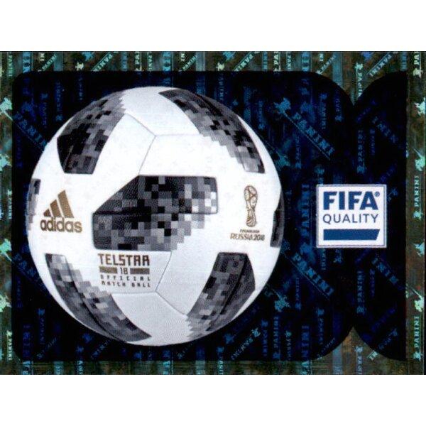 Offizieller Ball Sticker 7 Intro Panini WM 2018 World Cup Russia