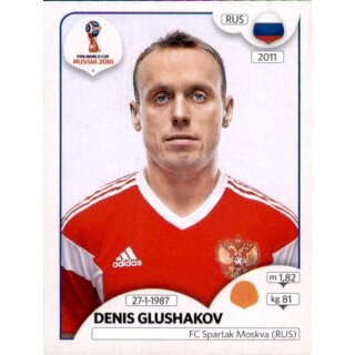 Panini WM 2018 - Sticker 42 - Denis Glushakov - Russland