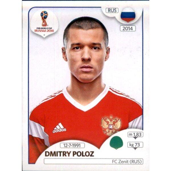 Dmitry Poloz Russland Sticker 49 Panini WM 2018 World Cup Russia