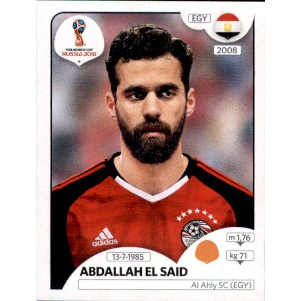 Ahmed Elmohamady Ägypten Sticker 76 Panini WM 2018 World Cup Russia