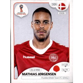 Panini WM 2018 - Sticker 259 - Mathias Jørgensen - Dänemark
