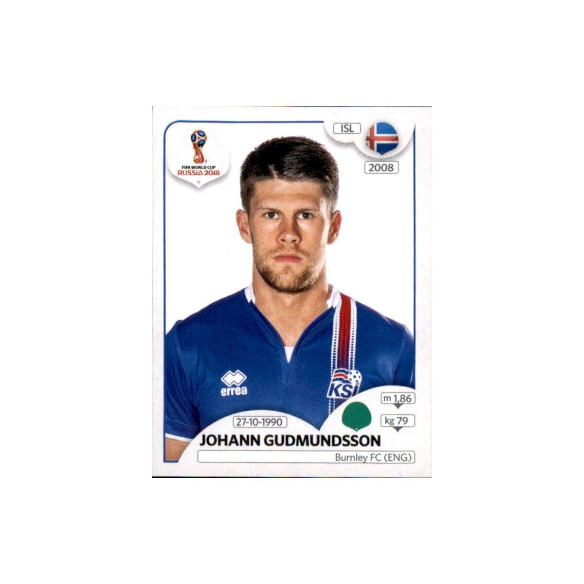 Panini WM 2018 World Cup Russia Johann Gudmundsson Sticker 307 Island