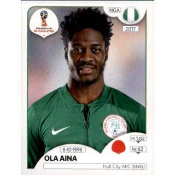 Sticker 340 Ola Aina Nigeria Panini WM 2018 World Cup Russia