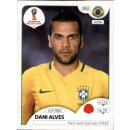 Panini WM 2018 - Sticker 355 - Dani Alves - Brasilien