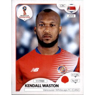 Panini WM 2018 - Sticker 399 - Kendall Waston - Costa Rica