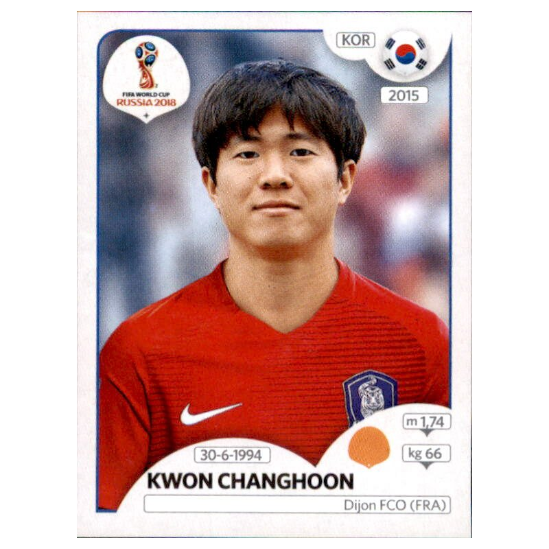 Panini WM 2018 World Cup Russia Sticker 496 Kim Jinsu Südkorea