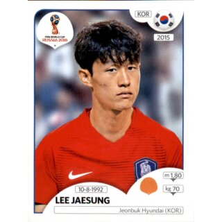 Panini WM 2018 - Sticker 507 - Lee Jaesung - Südkorea
