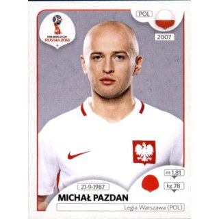 Panini WM 2018 - Sticker 598 - Michal Pazdan - Polen