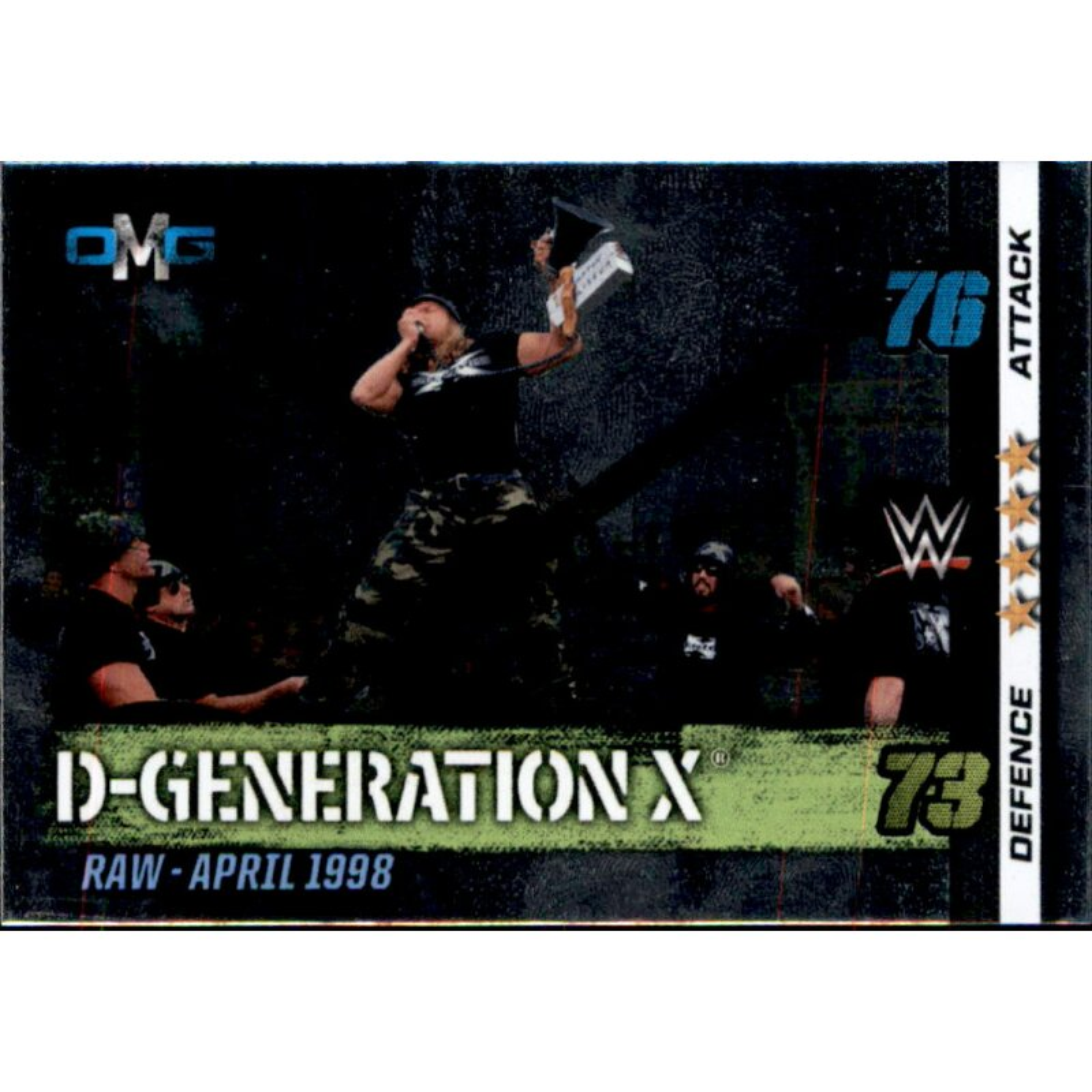 OMG 72 D-Generation X 10th Edition Nr WWE Slam Attax