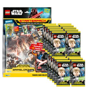 LEGO Star Wars - Serie 1 Trading Cards - 1 Starter + 20 Booster - Deutsch