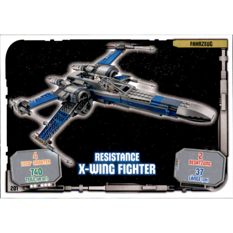 Resistance X-Wing Fighter LEGO Star Wars Sammelkarten Serie 1 201