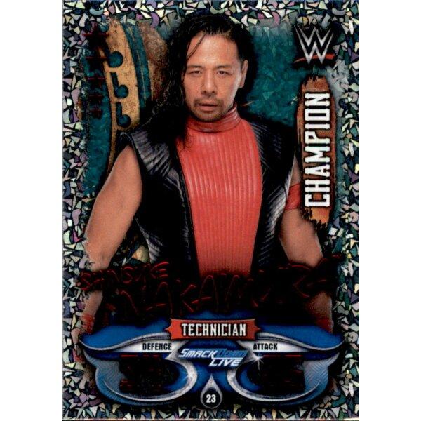 Champion Topps Slam Attax Live Karte 23 Shinsuke Nakamura