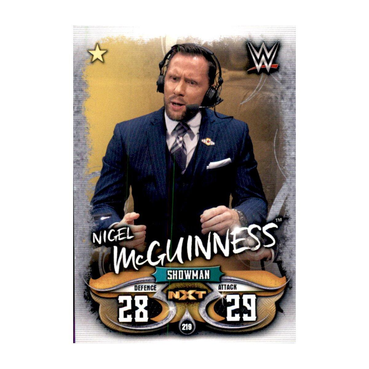 Topps Slam Attax Live-Carte 219-Nigel McGuinness-NXT
