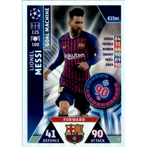 Topps Match Attax Champions League 2018-2019 Karte Nr.435 Sergio Busquets 100 ..