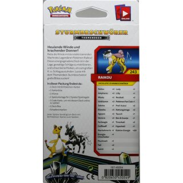 Deutsch Pokemon Sonne & Mond  Echo des Donners 1 Themendeck Sturmbeschwörer