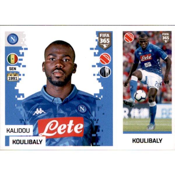 Sticker 242 a//b Kalidou Koulibaly SSC Neapel Panini FIFA365 2019