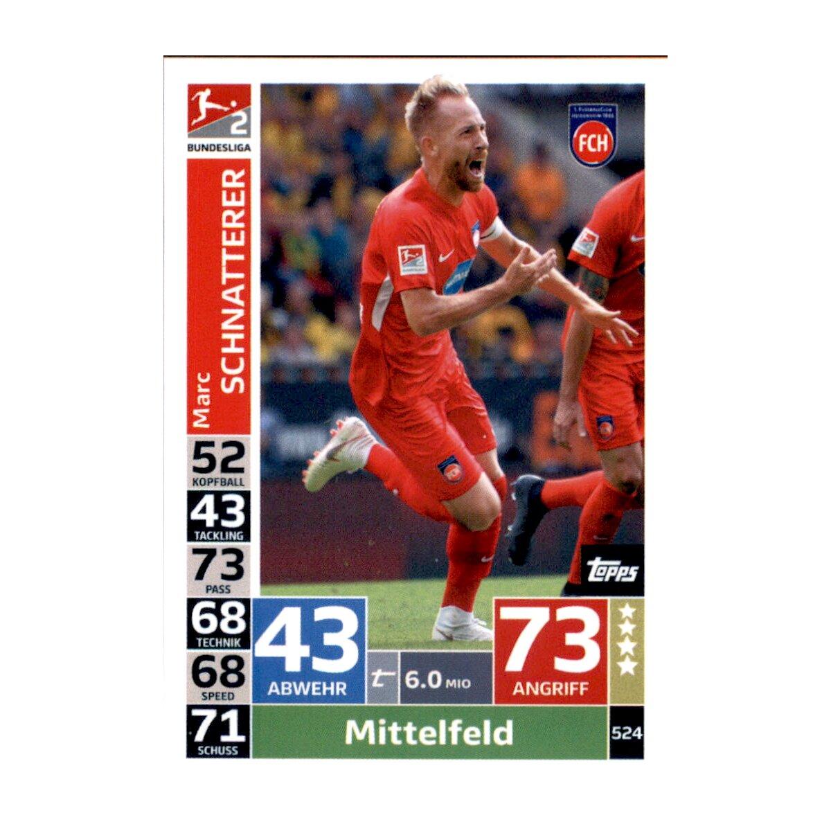 FC Heidenheim 1846 Carte Match Attax 18//19 # 523 Action 1