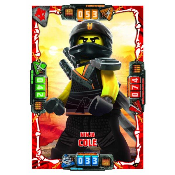 8 Ninja Cole Helden Karte Lego Ninjago Serie 4