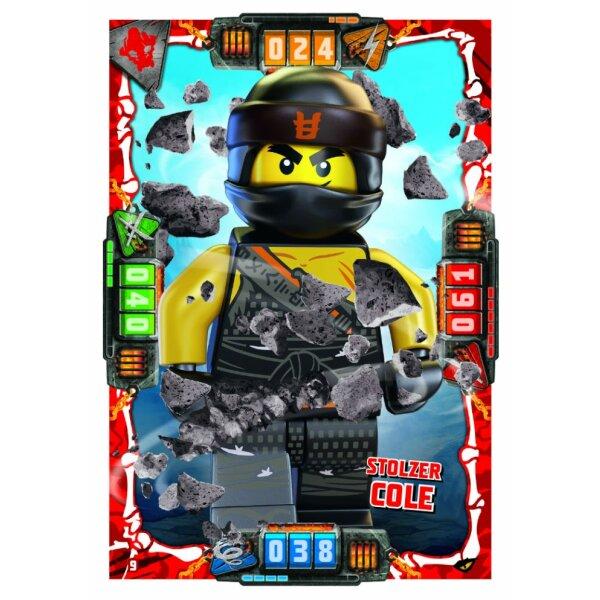 9 Stolzer Cole Helden Karte Lego Ninjago Serie 4