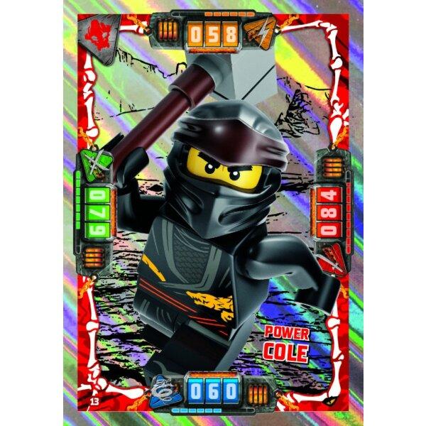 13 Power Cole Helden Karte Lego Ninjago Serie 4