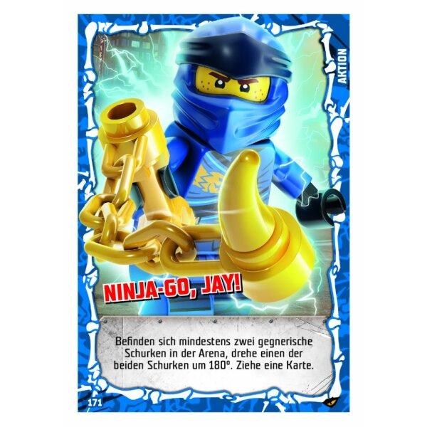 LEGO Ninjago SERIE 4 Wurfsterne des Eises 182 Aktionskarte