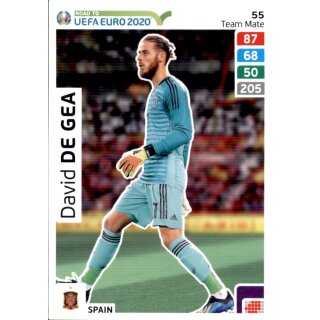 Karte 55 - Road to EURO EM 2020 - David de Gea - Team Mate