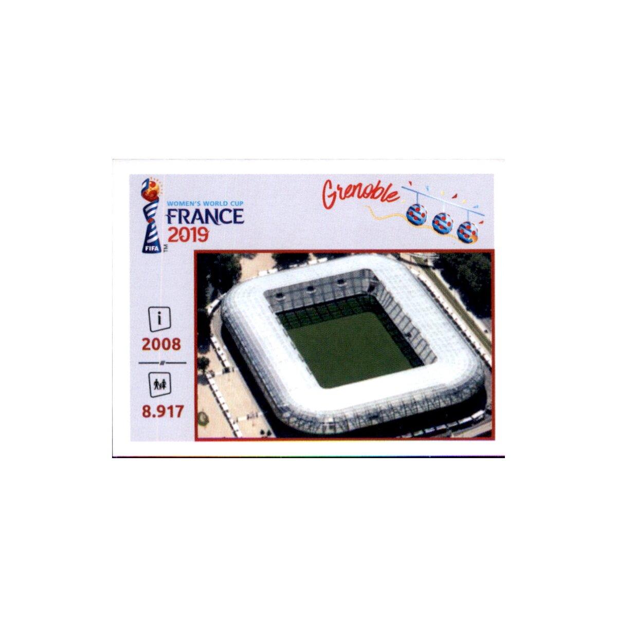 Orte und Stadien Panini Frauen WM 2019 Sticker 6 Grenoble