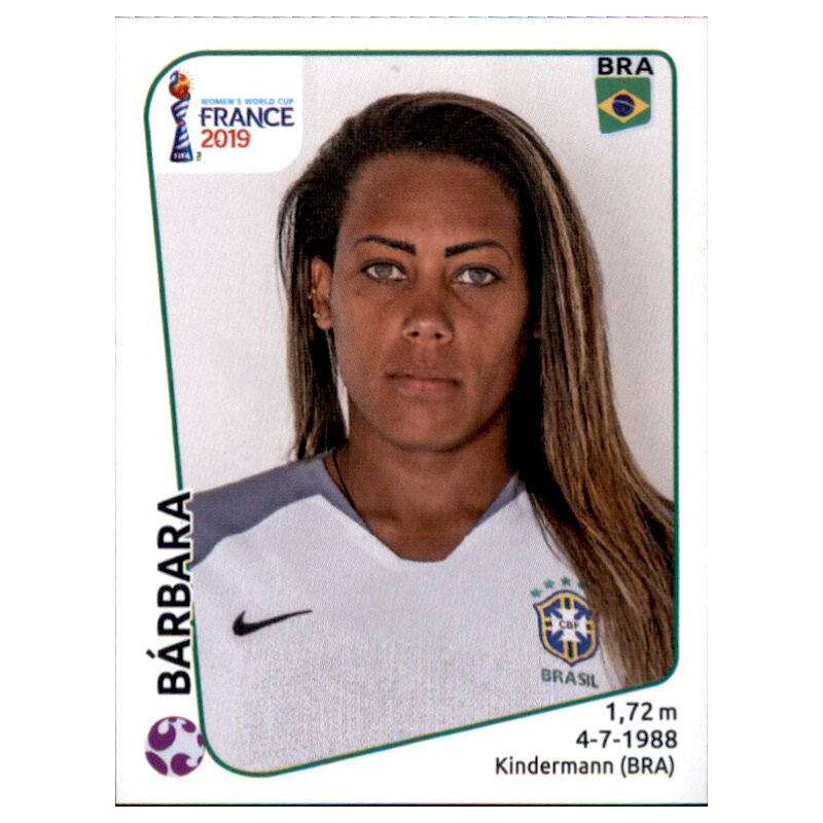 Panini Frauen WM 2019 Sticker 225 Brasilien Andressinha