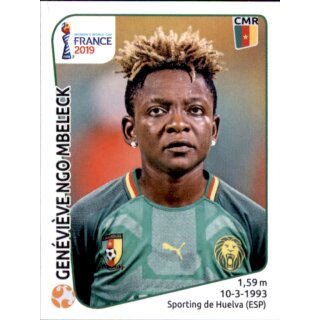 Panini Frauen WM 2019 Sticker 352 Kamerun Augustine Ejangue