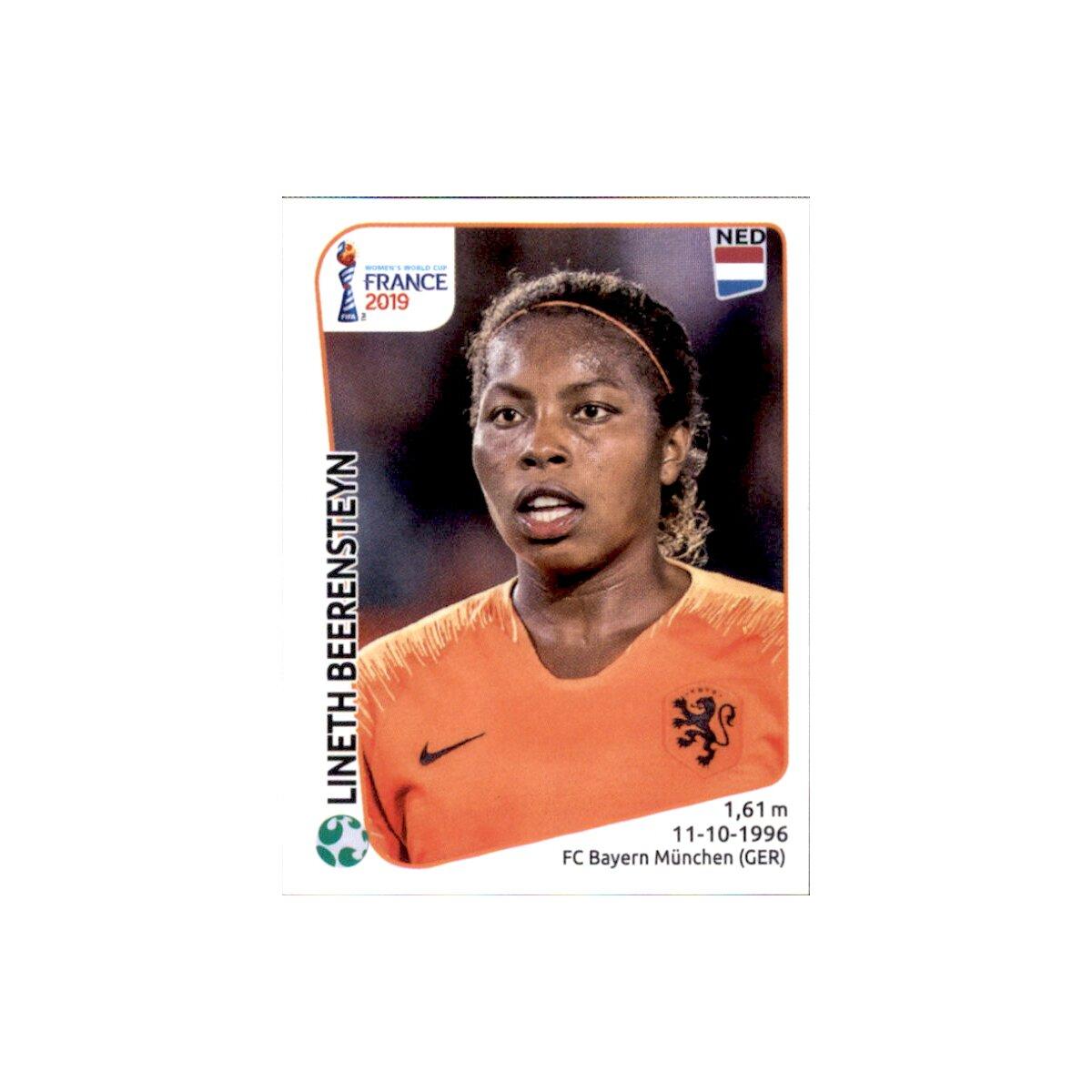 Niederlande Jackie Groenen Panini Frauen WM 2019 Sticker 398