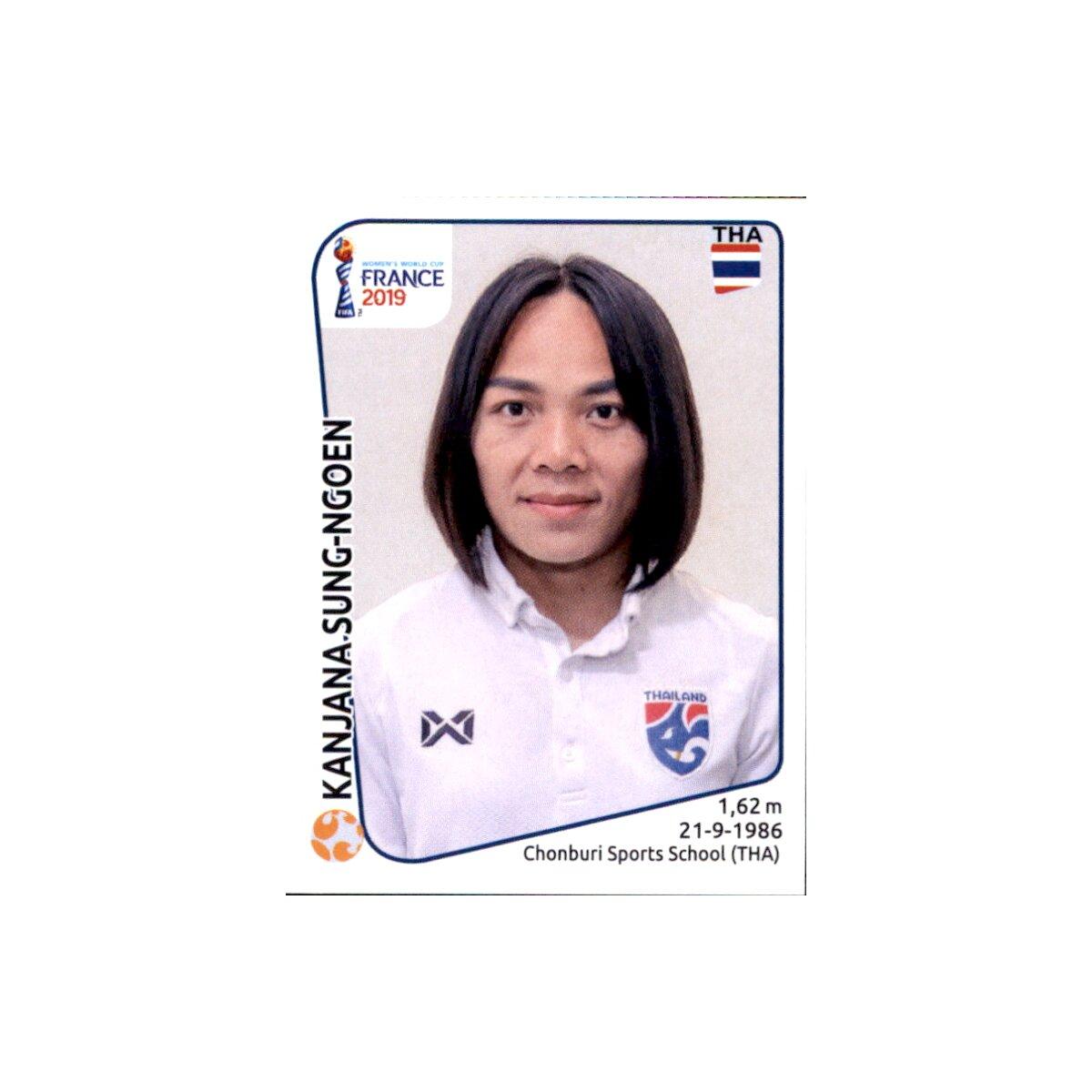 Panini Frauen WM 2019 Sticker 433 Thailand Pikul Khueanpet