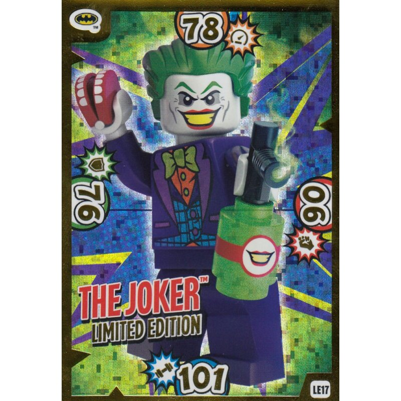 Limitierte Auflage LE17 LEGO Batman Movie Karten Nr The Joker