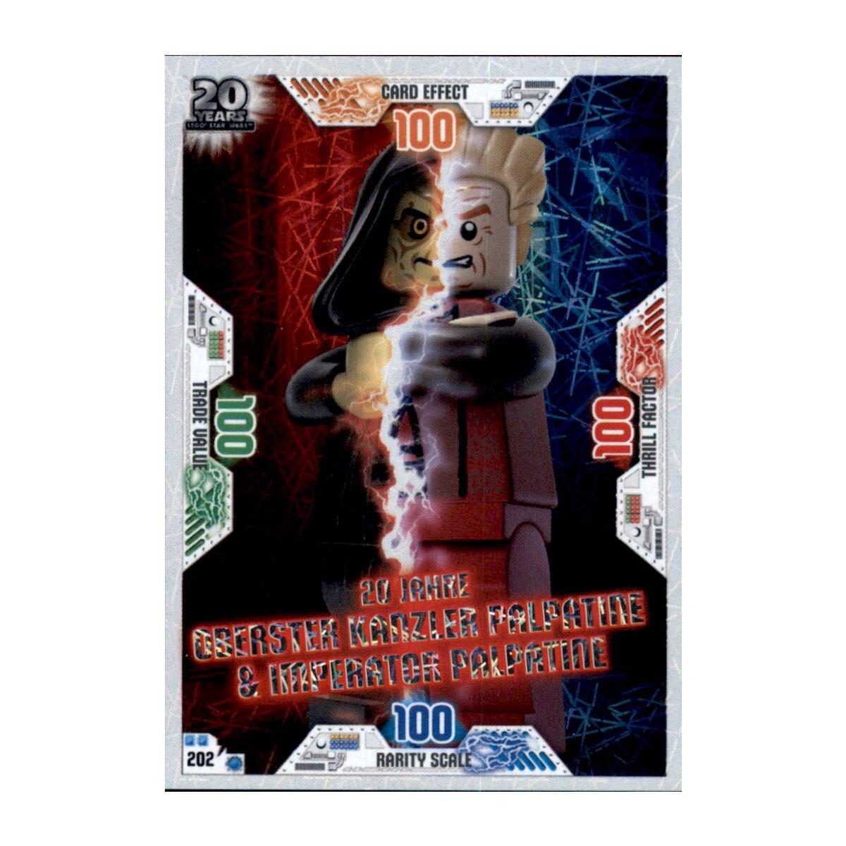 202 20 Jahre Kanzler Palpatine Lego Star Wars Serie 2 Sammelkarten Karte Nr