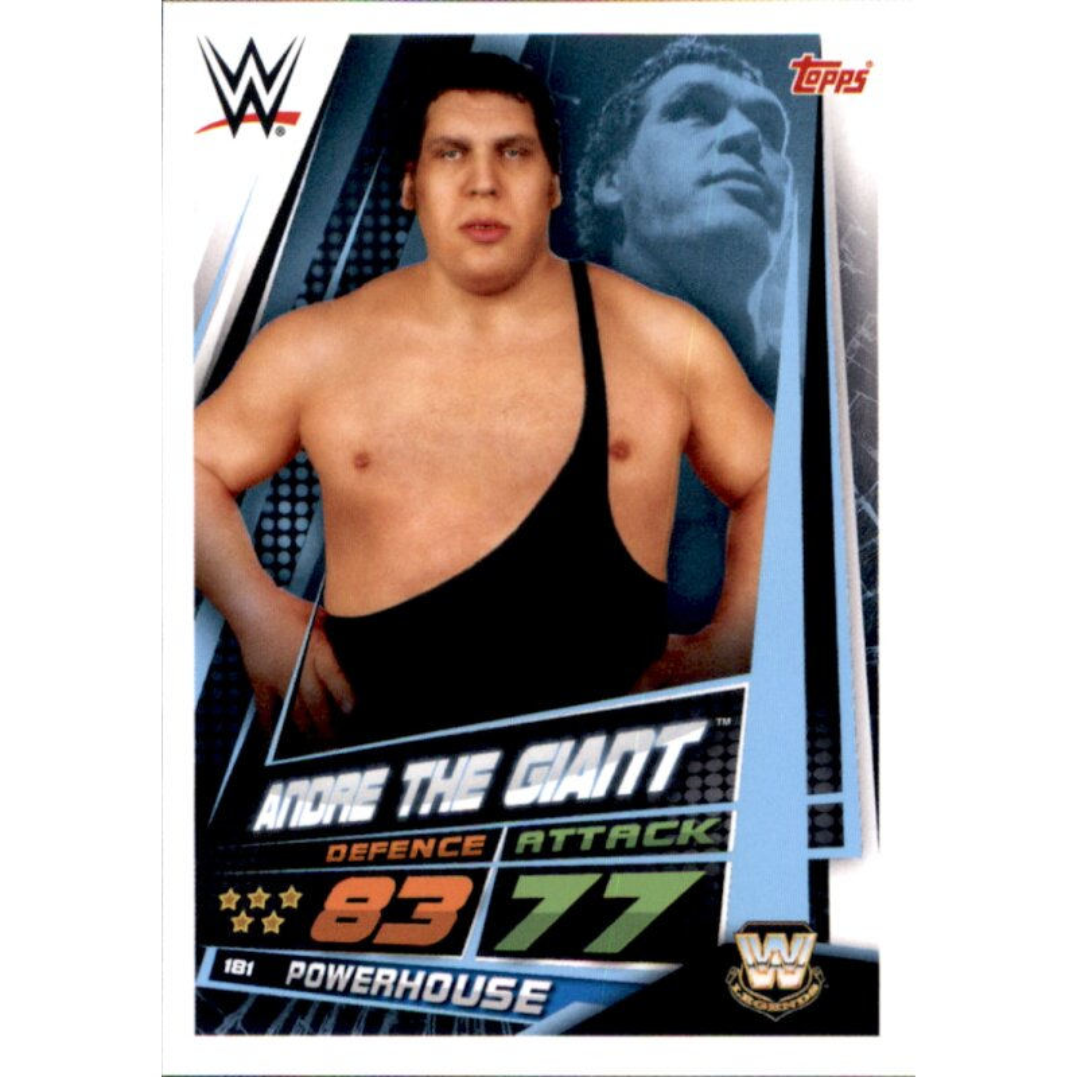 Wwe Slam Attax 12 Universe CARTE 181-Andre The Giant-WW Legends