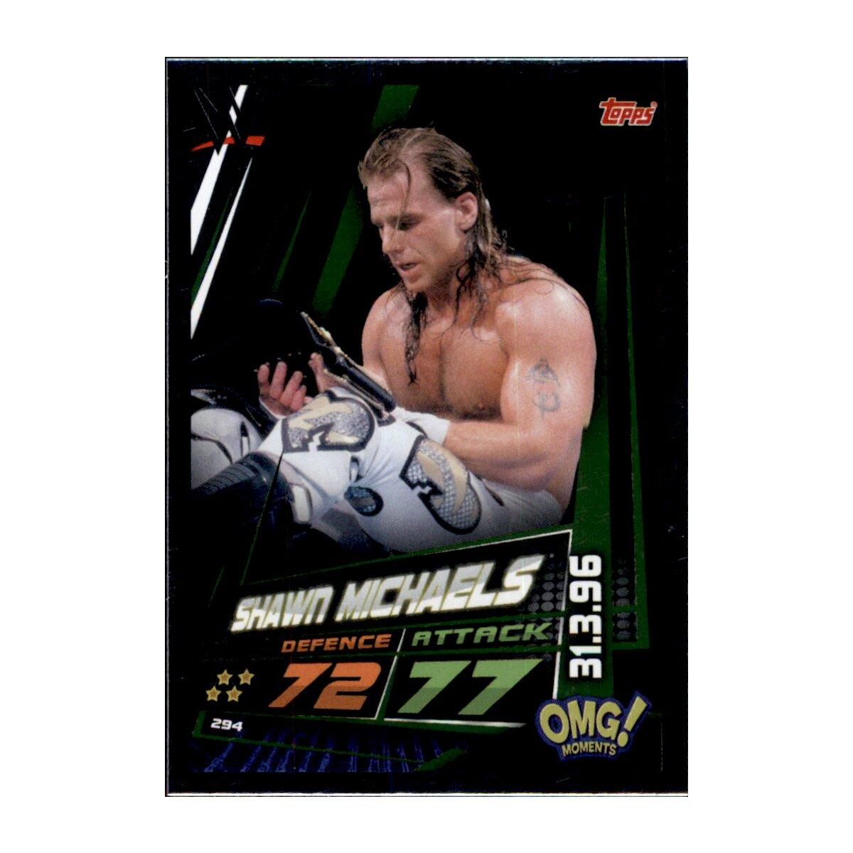 Omg moments Shawn Michaels WWE Slam Attax 12 Universe Karte 294