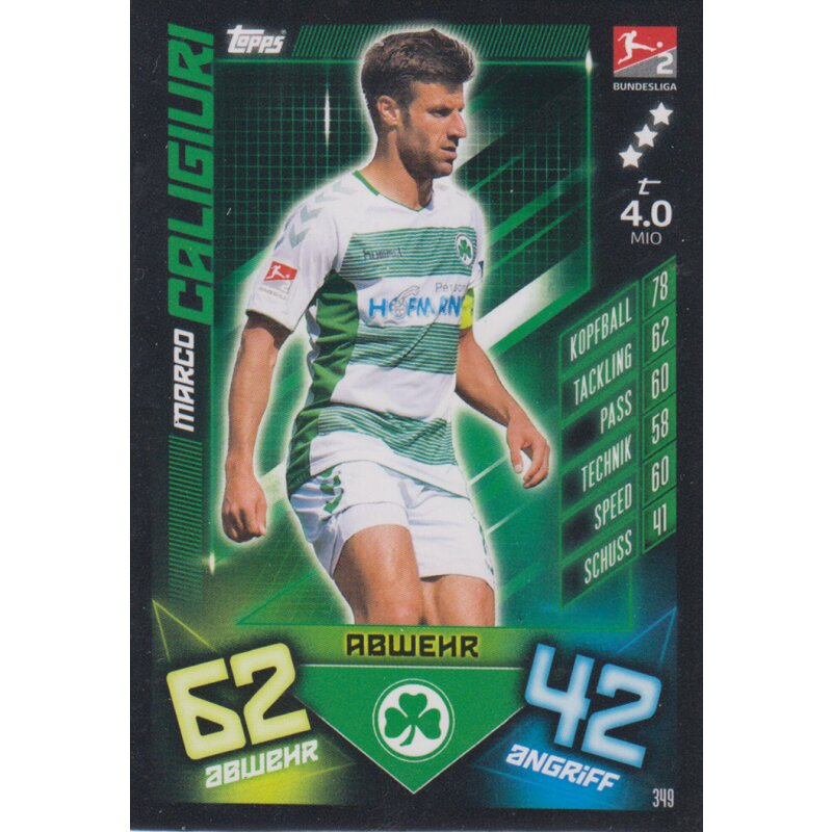 Match Attax 2019 2020 19 20 349-Marco Caligiuri