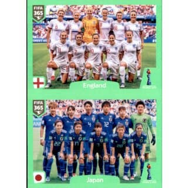 Japan England Panini Fifa 365 2020 Sticker 401