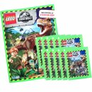 LEGO Jurassic-World - Sammelsticker - 1 Album + 10 Tüten
