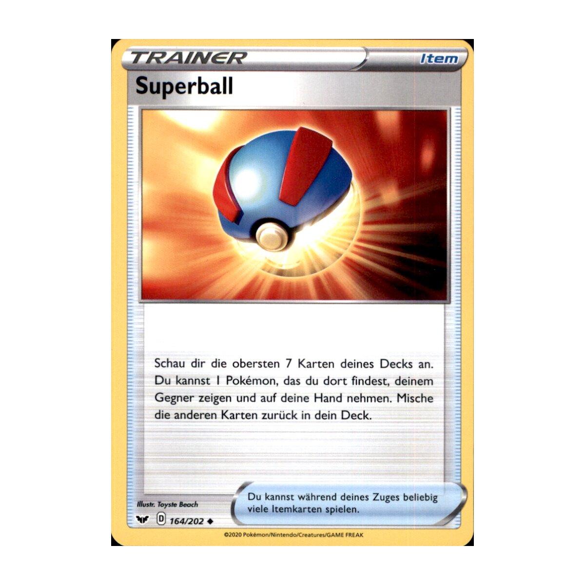 Pokemon Schwert /& Schild 1 164//202 Superball Reverse Holo