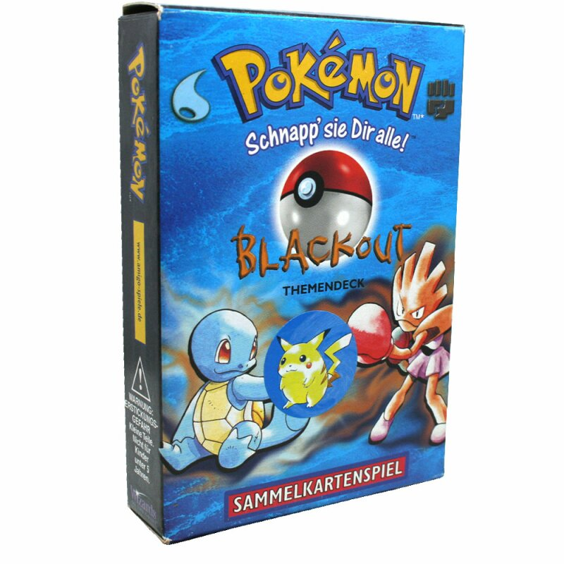 Pokemon - Base Set - Blackout Themendeck - Komplett - Deutsch - Zustand siehe Bild