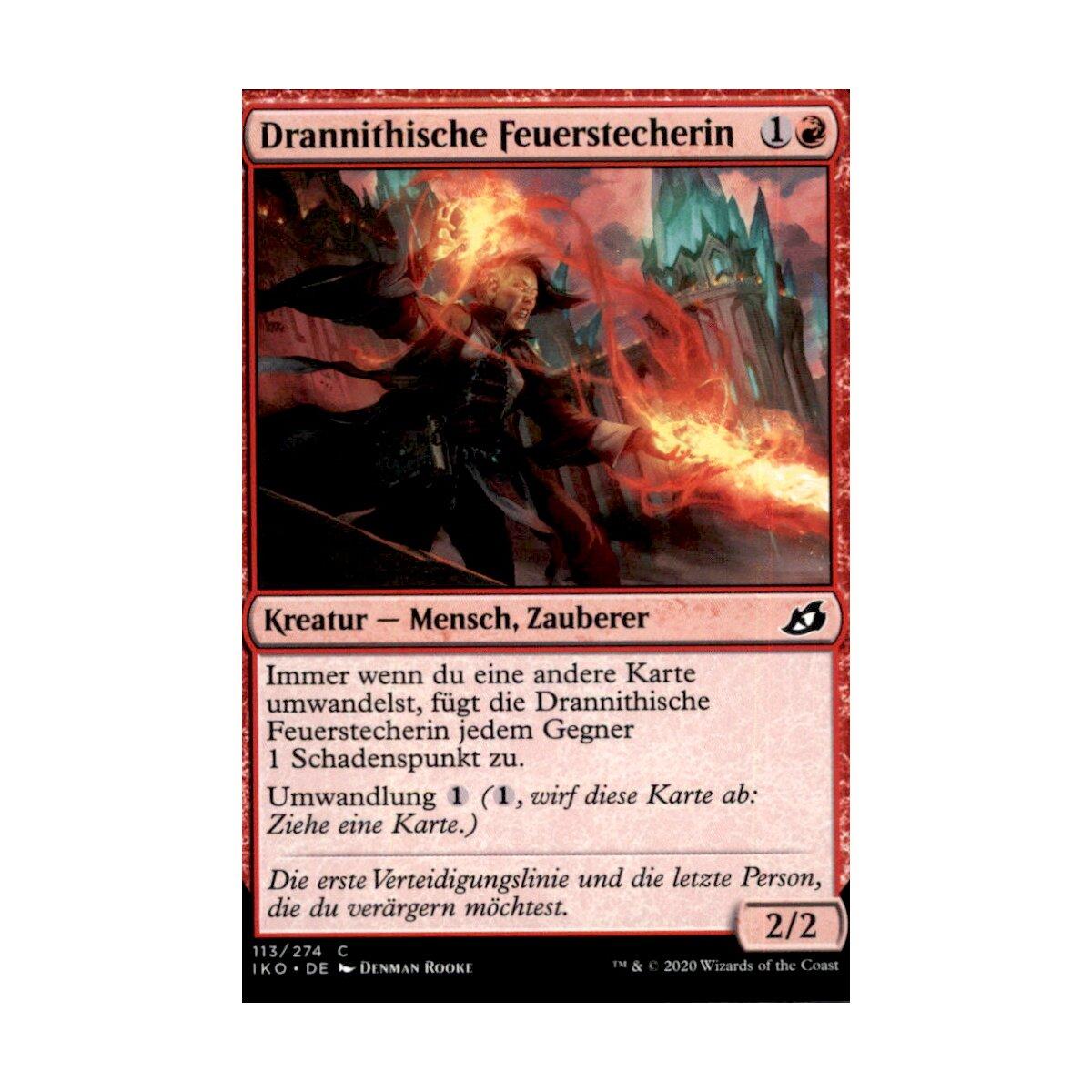 Mtg magic iko-113 drannithische feuerstecherin