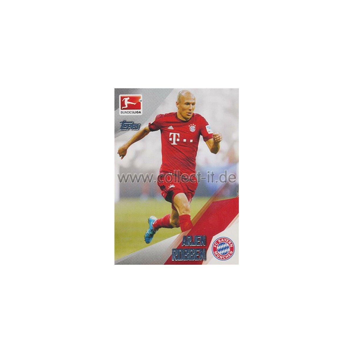 Topps Bundesliga Chrome 15//16 174 Arjen Robben