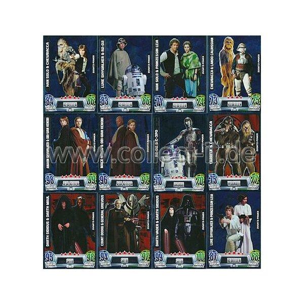 Star Wars Karte.Famov2 Spar 9 Alle 12 Zusatz Power Karten Deutsch Star Wars Force Attax Movie Cards Serie 2